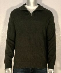 New Calvin Klein Jeans Men's ¼ Zip Pullover Knit Sweater Extra Large XL Green