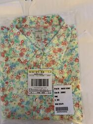LL Bean Floral Stretch Poplin Shirt Women's Size S NWT