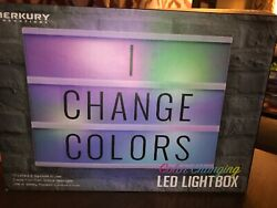 MERKURY INNOVATIONS COLOR CHANGING LED LIGHT BOX W72 LETTERS & SYMBOLS. NEW