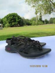 Chaco updraft eco tread womans  black strappy sandals size 9