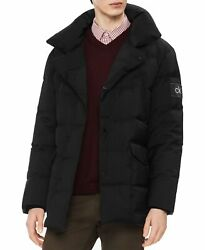 Calvin Klein Mens Coat Rich Black Size Large L Down Puffer Heavyweight $328- 094