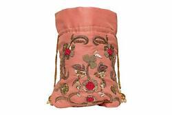 Indian Ethnic Style Pink Designer Pouch Bag Nature Women Girl Christmas Sale $39.00