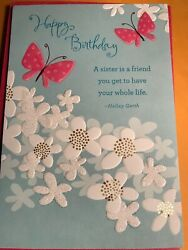 "Happy Birthday To Sister Greeting Card ""Sister Is A Friend For Life"""
