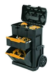 Bostitch 2-in-1 Rolling Workshop Portable Wheeled Tool Box Stackable BTST19803