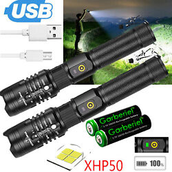 XHP50 Flashlight Zoomable 990000Lumens USB Rechargeable Torch Super Bright Light $23.95