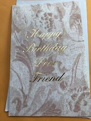 Happy Birthday To Dear Friend Greeting Card Great Price
