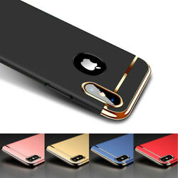 For iPhone 7 8 Plus 66S X Luxury Shockproof Hybrid Electroplate Slim Hard Case