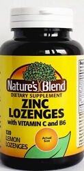 Nature#x27;s Blend Zinc Lozenges with Vitamin C and B6 120 Count Exp Date 04 2023 $11.99