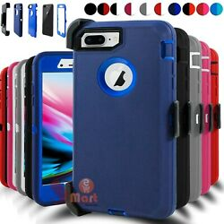 For iPhone 6 6s 7 8 Plus Shockproof Case Cover Belt Clip Fits Otterbox Defender  $8.99