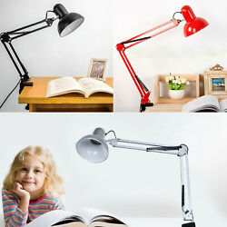 Adjustable Desk Lamp Swing Arm Office Clamp Table Drawing Design Desk Light $27.97