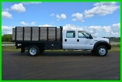 2006 Ford F-450 Crew Cab Diesel Flat Bed Stake Bed - LOW RESERVE AUCTION!