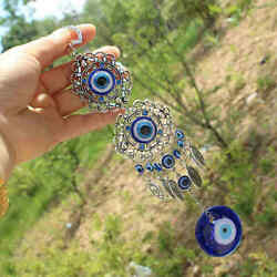 Turkish Evil Eye Amulet Wall Hanging Home Office Decor Lucky Protection Pendant $4.79
