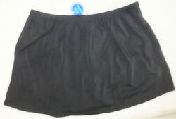 SWIMSUITS FOR ALL Womens Skirted Swim Bottoms #2506 Black Various Sizes NWT $10.99