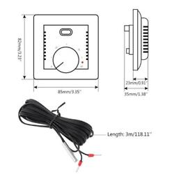Floor Electric Heating Room Thermostat 16A AC220 230V Temperature Controller 86 $9.05