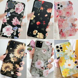 For Iphone 13 Pro Max 12 11 XS Max XR 7 8 Slim Floral Cute Girl Phone Case Cover $7.98