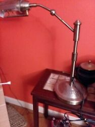"Vintage  24"" Tone Brass Swivel  Bankers Desk Piano Lamp"