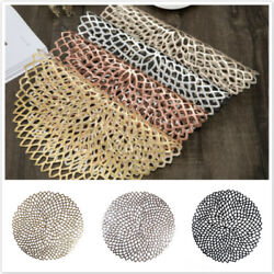Non slip Pad PVC Placemat Table Mat Home Decor Round Dining Modern Insulation SH $8.04