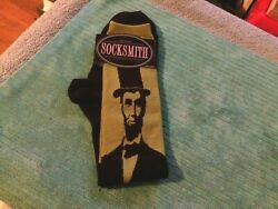 Socksmith Womens Novelty Knee Hi Socks Lincoln Black Olive 9 11 $9.99