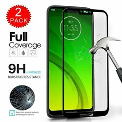 For Motorola Moto G7 Power FULL COVER Tempered Glass Coverage Screen Protector $5.96