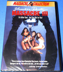 NEW RARE OOP MARIA FORD SLUMBER PARTY MASSACRE 3 III HORROR SLASHER MOVIE DVD $29.95