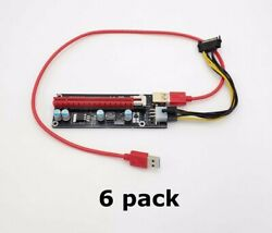 Mailiya PCIe Dual Chip PCI E 16x to 1x Powered Riser Adapter Card 6 Pack $27.45