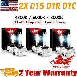 2x D1S D1R HID Xenon Headlight 4300K 6000K 8000K Replacement for Philips Bulbs