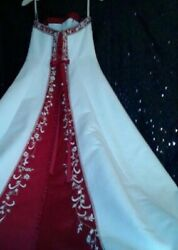 Forever Yours Wedding Dress Size: 8  Red & White