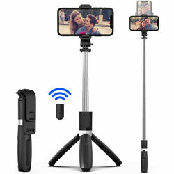 For iPhone 11 Pro Max/XR/XS/8/7/6 Selfie Stick Extendable Wireless Remote Tripod $7.35