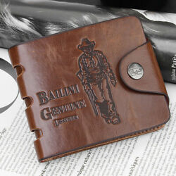 Men#x27;s Bifold Leather Wallet ID Credit Slim Card Holder Front Pocket Clutch US $6.99
