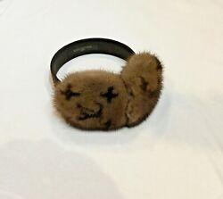 Authentic Louis Vuitton Mink Fur Ear Muffs $1,295.00
