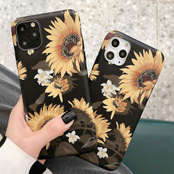 Black Sunflower Cute Phone Case Cover For iPhone 12 Pro Max 11 8 Plus XS XR 6S 7 $7.99