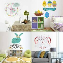 Lovely Cartoon Easter Rabbit Wall Sticker Kids Room Bedroom Decal Home Stickers $6.49
