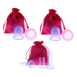 8 PcsSet Silicone Face Body Cupping Cups Massage Vacuum Therapy Kits with Bag $19.29