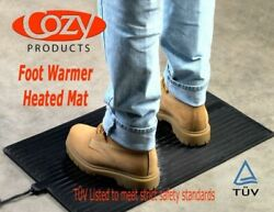 Cozy Products FW Foot Warmer Mat Electric Rubber Personal Space Heater New 120 V $63.99