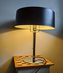 Modernist French Art Deco Table  Desk Lamp Style of Pierre CHAREAU Reproduction