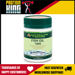 AUSTRALIAN BY NATURE OMEGA 3 FISH OIL 1000MG 100 CAPS NATURAL SOURCE HEALTH ABN AU $21.95