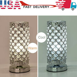 Crystal Table Lamp Nightstand Decorative Room Desk Lamp For Bedroom US Stock