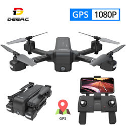 GPS RC Drone with Camera 1080P Foldable Quadcopter FPV Auto Return DE25 Selfie $109.99