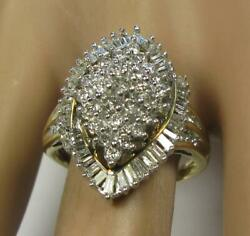 Estate 2.0CT Diamond Engagement Promise Cocktail Women Ring 10K yellow Gold $695.00