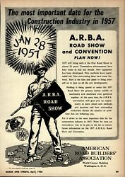 1956 A.R.B.A Print Advertisement: American Road Builders Assn. 1957 Show in DC $14.88