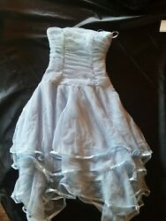 BLONDIE NITES Baby Blue Cocktail Party Prom Dress 3 $4.99