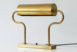 Rare MID CENTURY MODERN Brass TABLE LAMP Desk Light by FLORIAN SCHULZ Germany
