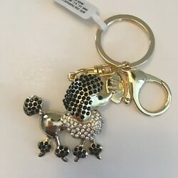 NWT Hallmark BEJEWELED GOLD POODLE DOG Bling KEYCHAIN Charms NEW $9.99