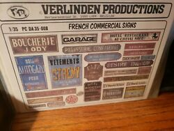 1 35 VERLINDEN PRODUCTIONS FRENCH COMMERCIAL SIGNS