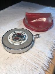 Vintage Chesterman Sheffield England tape measure leather bound. 15 METERS.