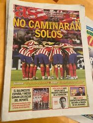 """18.2.2020 Athletico Madrid v Liverpool day of match paper """"AS"""" GBP 7.00"""