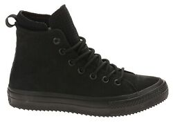 Converse Chuck Taylor All Star Waterproof Leather High Top Boot Black 162409C $80.00