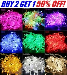 10M 100 LED Christmas Tree Fairy String Party Lights Xmax Waterproof Color Lamp $8.79