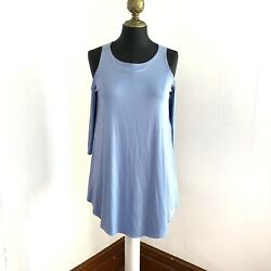 Jolie Cold Shoulder Swing Top Periwinkle Womens Size Medium