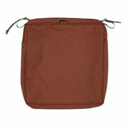 Classic Accessories Square Seat Cushion Cover Heather Henna Red 23x23x4 in. $28.00